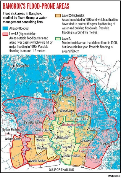 2011 10 13 bangkok flooding map