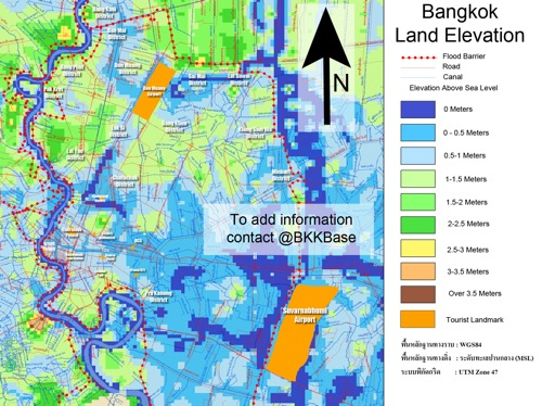 2011 10 24 bangkok flooding map elevation