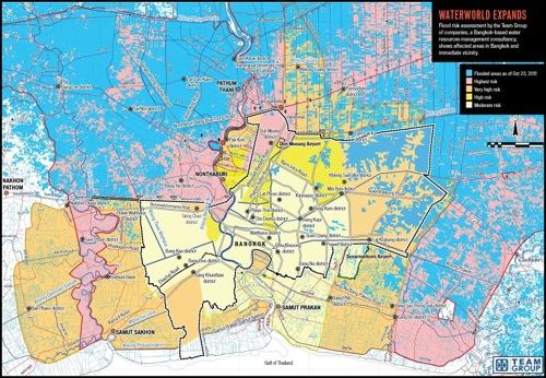 2011 10 29 bangkok flooding map TEAM