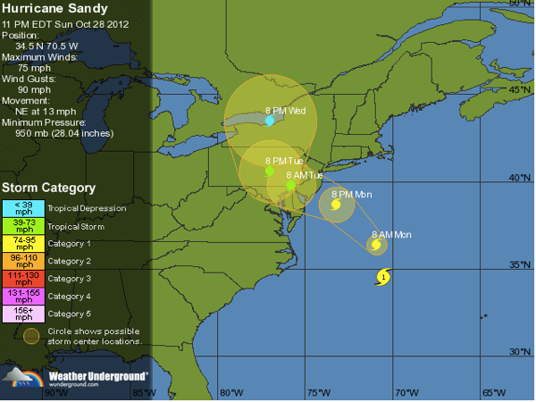 2012 10 28 hurricane sandy weather underground tracking