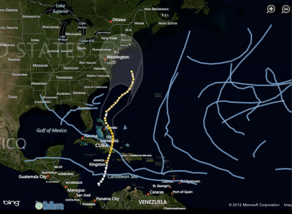 2012 10 29 wsj hurricane sandy tracker