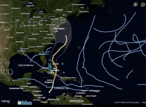 2012 10 29 wsj hurricane sandy tracker