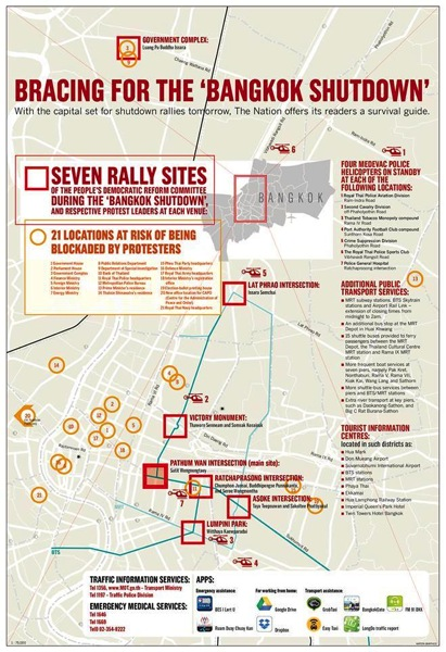 2013 11 29 bangkok protests map2