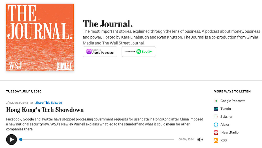 The Journal podcast