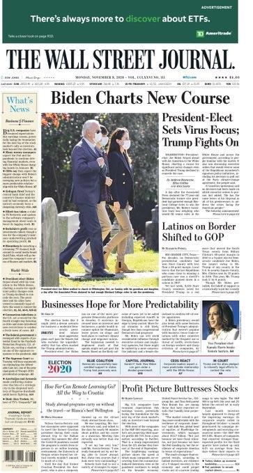 WSJ front page Biden