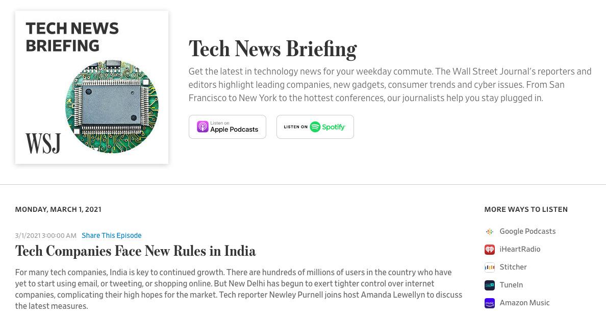 Tech News Briefing -- talking India tech