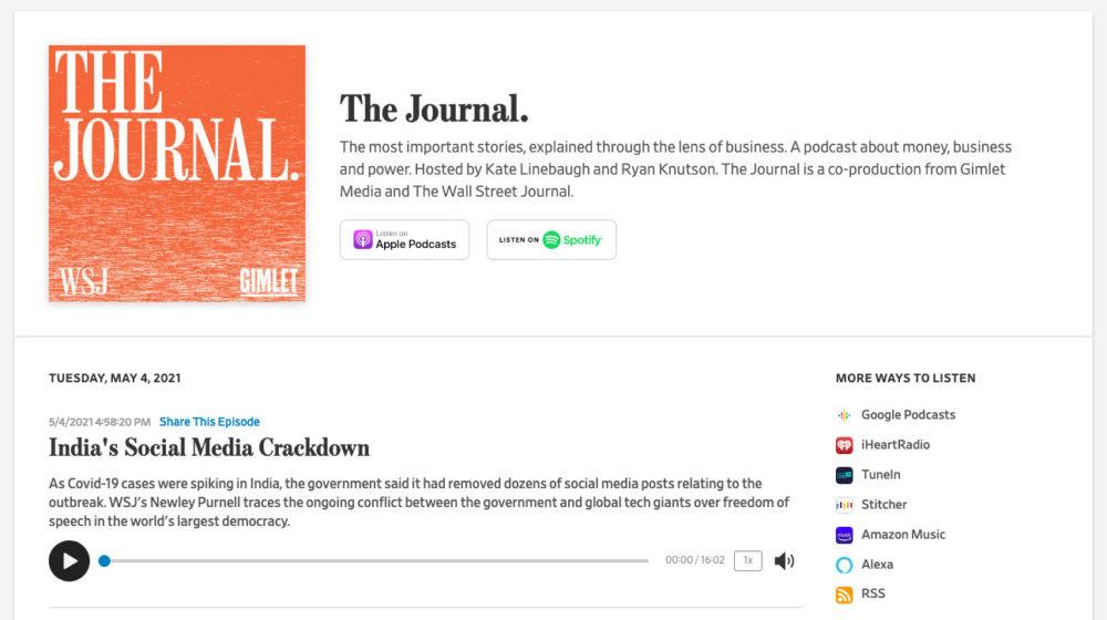 Journal podcast -- India, Covid, social media