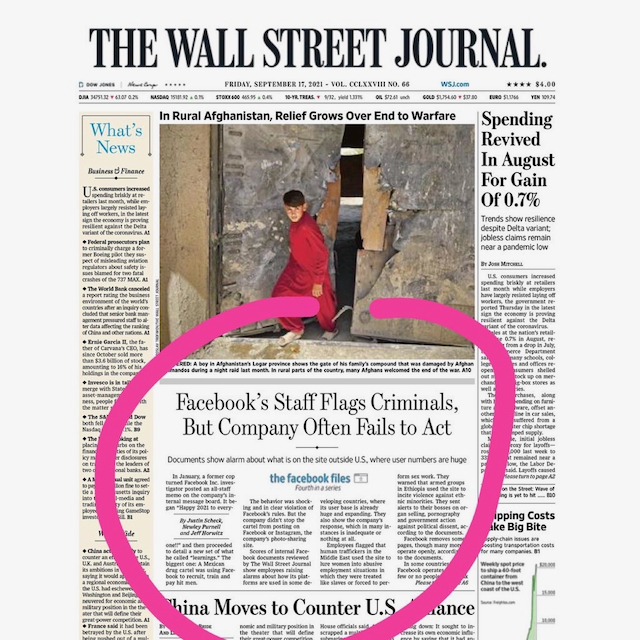 WSJ Facebook Files page one